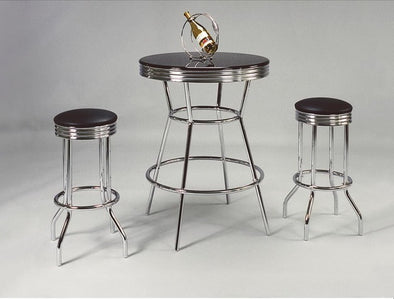 Retro 3-Piece Counter Height Bar Table Set