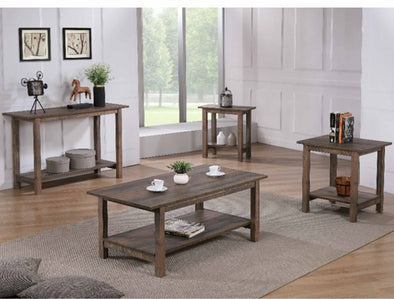 Soto Brown 3-Piece Coffee Table Set (1xCoffee 2xEnd) - Luna Furniture