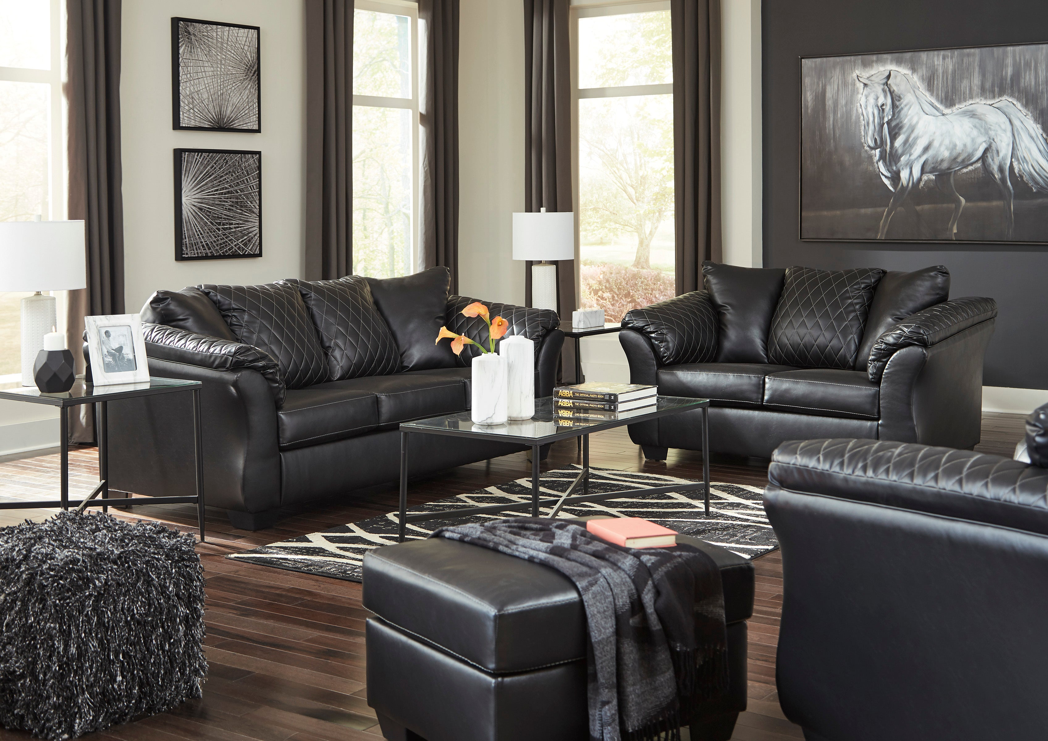 SPECIAL] Betrillo Black Living Room Set | 40502AshleyLiving ...