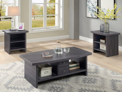 Markus Gray 3-Piece Coffee Table Set (1xCoffee 2xEnd) - Luna Furniture