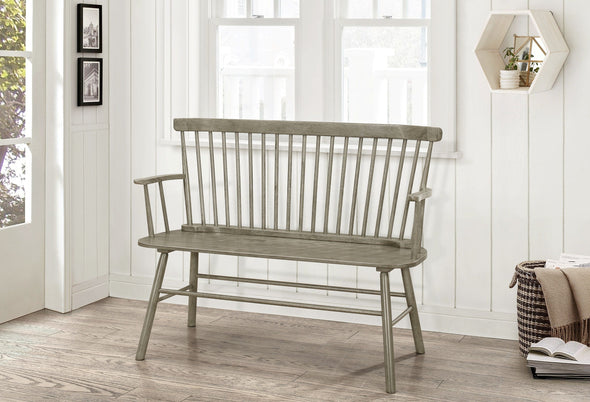 Jerimiah Spindleback Grey Bench - Luna Furniture