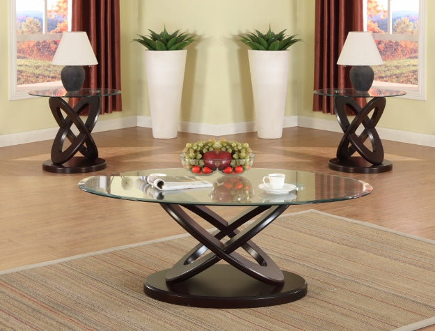 3 Piece Glass Top Coffee Table Sets.Cyclone 3 Piece Coffee Table Set 1xcoffee 2xend