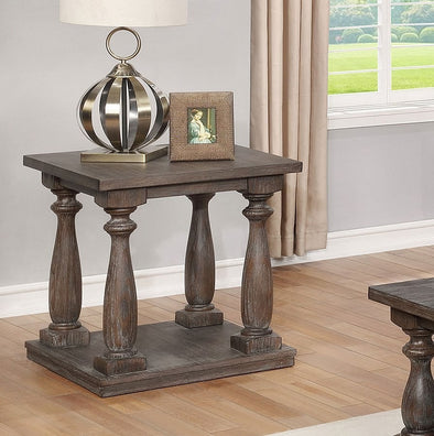 Regent Grayish Brown End Table