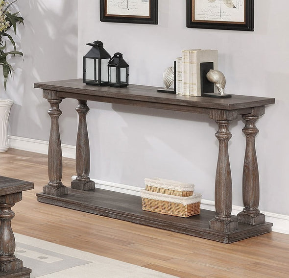 Regent Grayish Brown Console Table - Luna Furniture