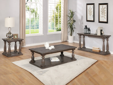 Regent Grayish Brown 3-Piece Coffee Table Set (1xCoffee 2xEnd) - Luna Furniture