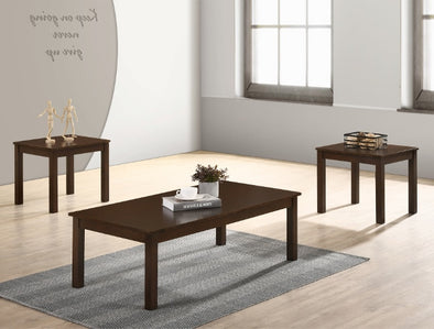 Pierce Brown 3-Piece Coffee Table Set (1xCoffee 2xEnd) - Luna Furniture