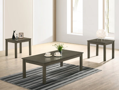 Pierce Gray 3-Piece Coffee Table Set (1xCoffee 2xEnd) - Luna Furniture