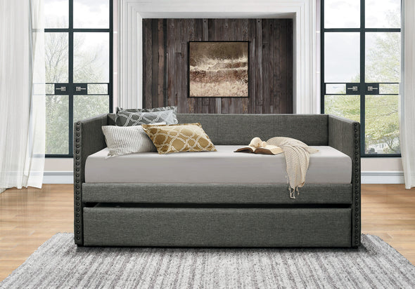 Therese Gray Daybed with Trundle - Luna Furniture