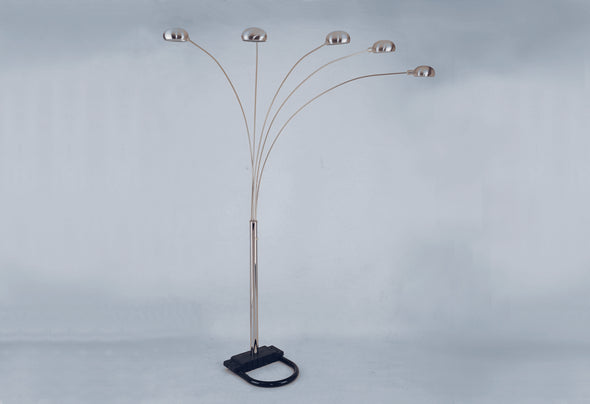 "Peacock Arc Pewter 82"" Floor Lamp - Luna Furniture"