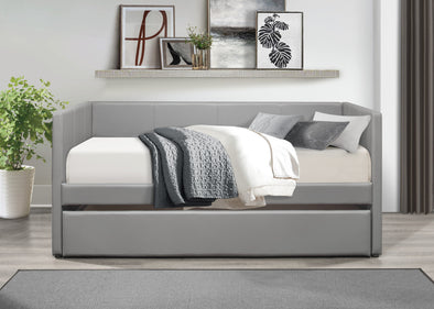 Adra Gray Twin Daybed with Trundle