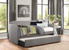 Roland Gray Daybed with Trundle - Luna Furniture