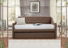 Tulney Brown Daybed with Trundle - Luna Furniture
