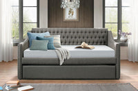 Tulney Dark Gray Daybed with Trundle - Luna Furniture