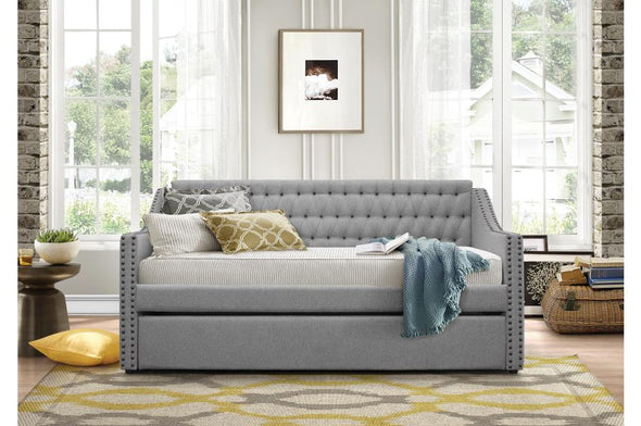 Tulney Gray Daybed with Trundle - Luna Furniture