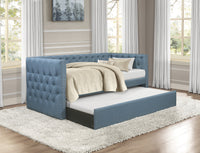 Adalie Blue Twin Daybed with Trundle - Luna Furniture