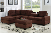 Heights Chocolate Reversible Sectional with Storage Ottoman *** - Luna Furniture