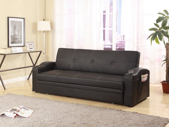 Easton Futon Sofa Bed with Cup Holders - Luna Furniture