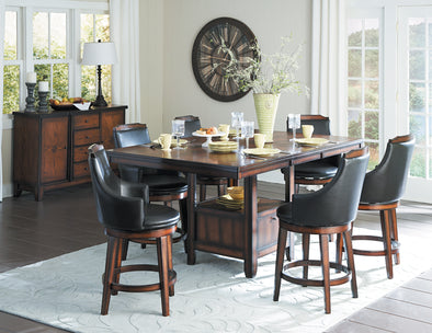 [SPECIAL] Bayshore Brown Extendable Counter Height Set | 5447