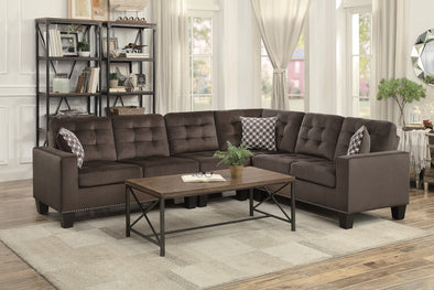 [SPECIAL] Lantana Chocolate Reversible Sectional