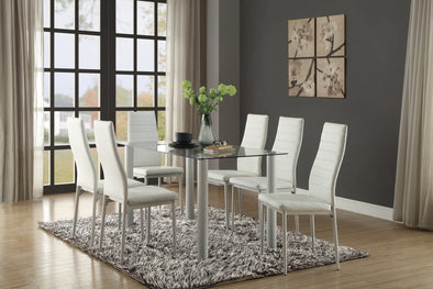 [SPECIAL] Florian White Dining Set - Luna Furniture