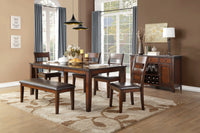Mantello Cherry Extendable Dining Table - Luna Furniture