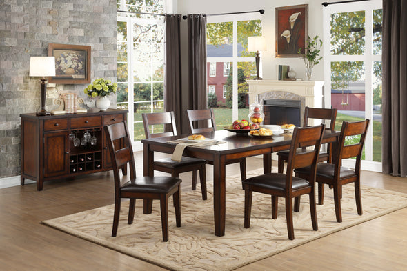[SPECIAL] Mantello Cherry Extendable Dining Set - Luna Furniture