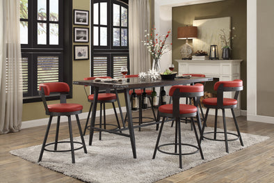 Appert Dark Gray/Red Counter Height Set | 5566