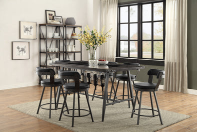 Appert Dark Gray/Black Counter Height Set | 5566