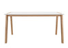 Misa White/Natural Dining Table - Luna Furniture