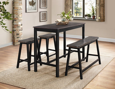 Visby Grayish Brown 4-Piece Counter Height Set | 5578