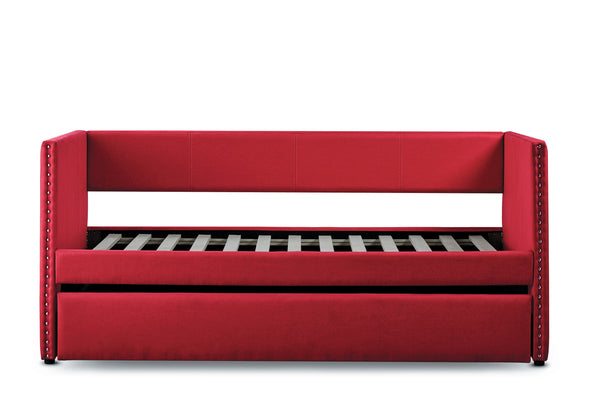 Therese Red Daybed with Trundle - Luna Furniture