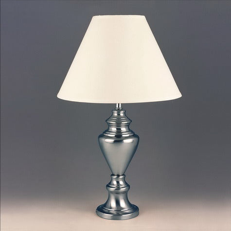 "Chrome 28"" Table Lamp, Set of 2 - Luna Furniture"