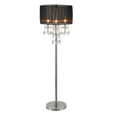 "Chandelier Black 62"" Floor Lamp"
