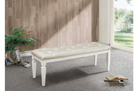 Allura White Bedroom Bench - Luna Furniture
