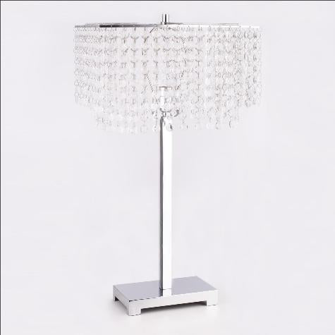 "Chandelier Chrome 27.5"" Table Lamp - Luna Furniture"