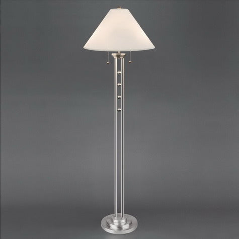 "Magnum Chrome 62"" Floor Lamp - Luna Furniture"