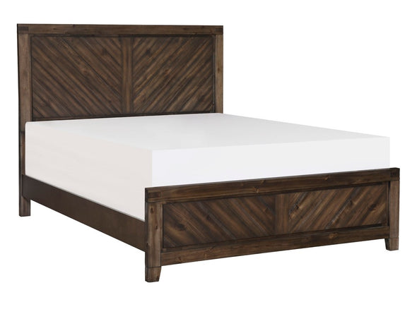 Parnell Rustic Cherry King Panel Bed - Luna Furniture