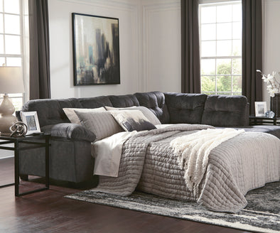 Accrington Granite RAF Queen Sleeper Sectional - Luna Furniture