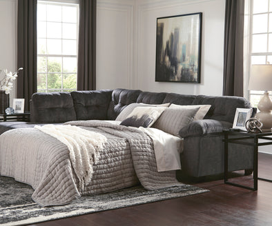 Accrington Granite LAF Queen Sleeper Sectional - Luna Furniture