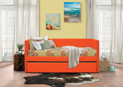 Therese Orange Daybed with Trundle | 4969