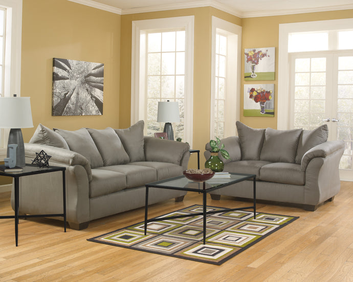Darcy Cobblestone Living Room Set