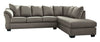 Darcy Cobblestone RAF Sectional - Luna Furniture