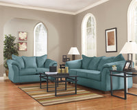 Darcy Sky Living Room Set - Luna Furniture
