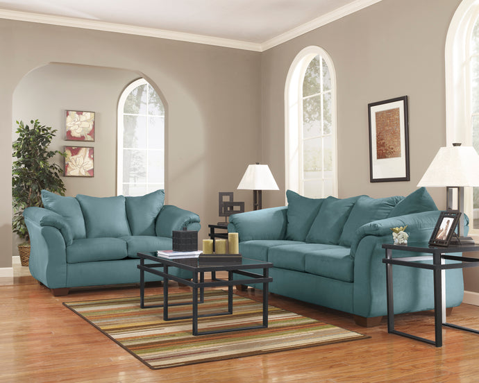 Darcy Sky Living Room Set
