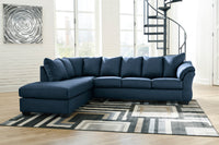 Darcy Blue LAF Sectional - Luna Furniture
