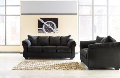 [SPECIAL] Darcy Black Living Room Set | 75008