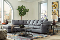 Darcy Steel LAF Sectional - Luna Furniture