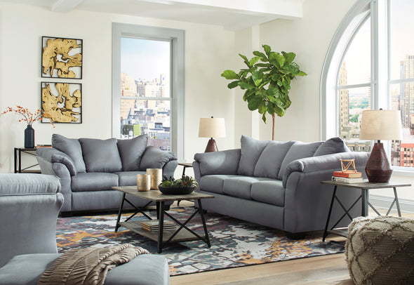 Darcy Steel Living Room Set - Luna Furniture