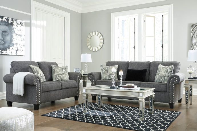 Agleno Charcoal Living Room Set