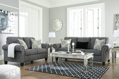 Agleno Charcoal Living Room Set - Luna Furniture